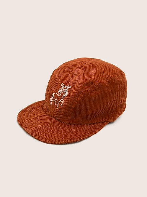 Pictish Packable Corduroy Cap - Rust