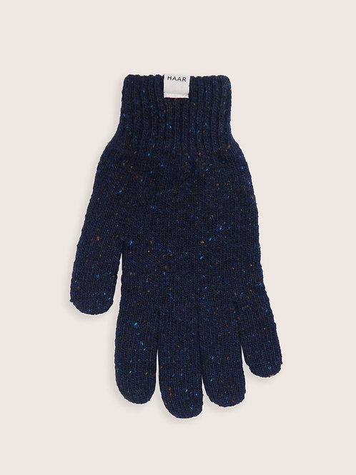 Donegal Wool gloves - Navy