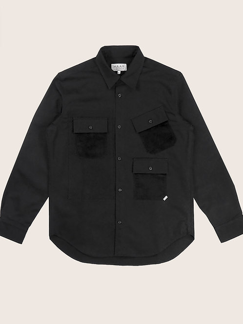 Multi-Pocket Shirt - Black