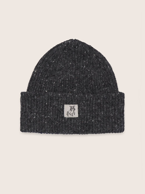 Patch Donegal Wool Beanie - Grey