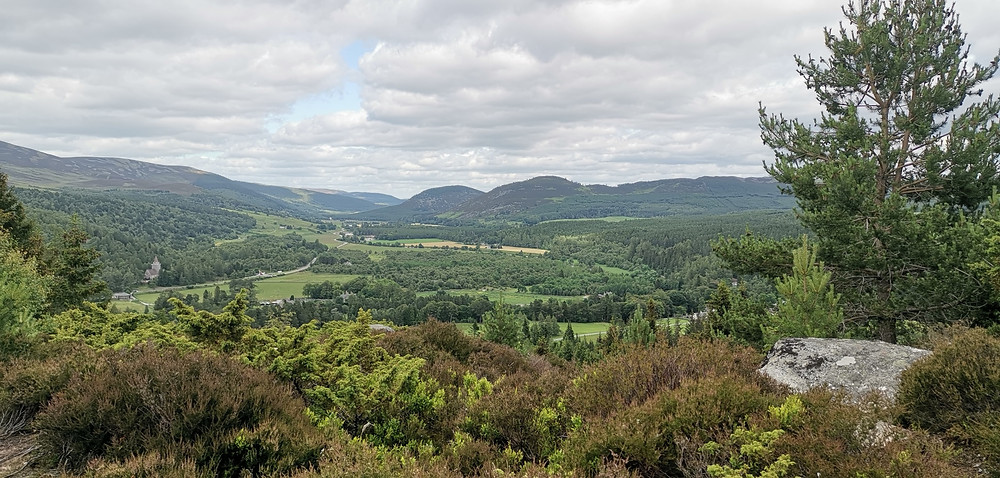 Stunning views across the Balmoral Estate from the Purchase Cairn