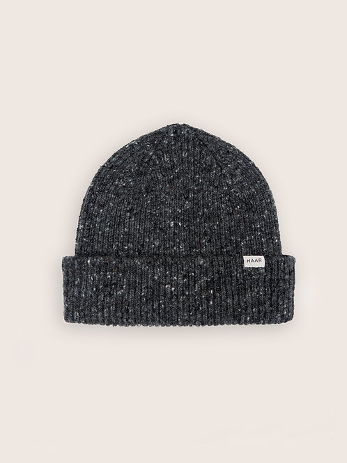 Donegal Wool Beanie - Grey