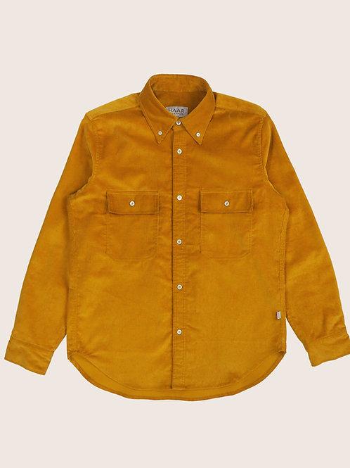 Corduroy B.D. Shirt - Gold