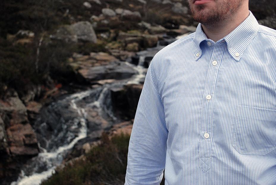 HAAR Oxford pop-over shirt with button-down collar