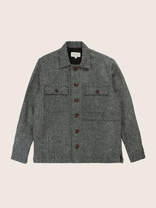 Harris Tweed CPO - Granite Grey Herringbone