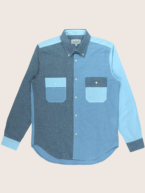 Chambray Button Down - Mix Blue