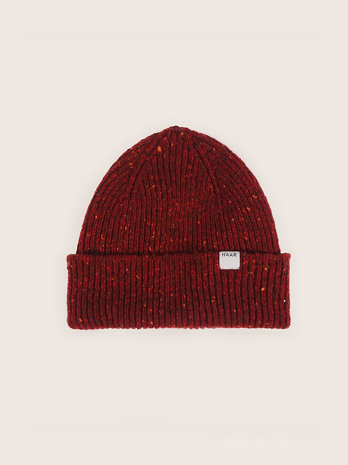 Donegal Wool Beanie - Red