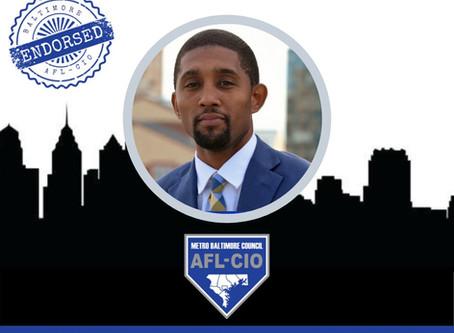 September 30: Baltimore AFL-CIO Endorses Brandon Scott for Mayor