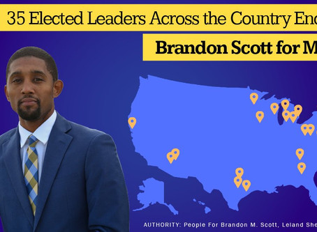 May 13: Brandon Scott for Mayor Endorsed by 35 Elected Officials Across the Nation