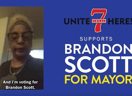 May 1: UNITE HERE! Local 7 Endorses Brandon for Baltimore