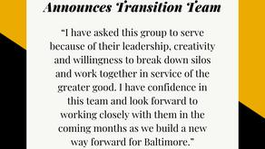 December 1: Mayor-Elect Brandon Scott Announces Transition Team Members