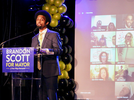 November 3: Brandon M. Scott Declares Victory in Mayor's Race