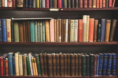 old book shelf