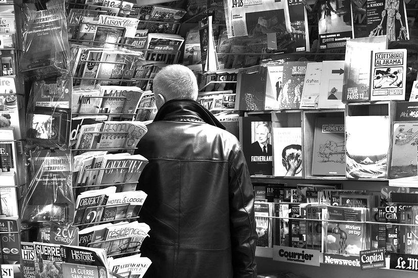 Man in kiosk