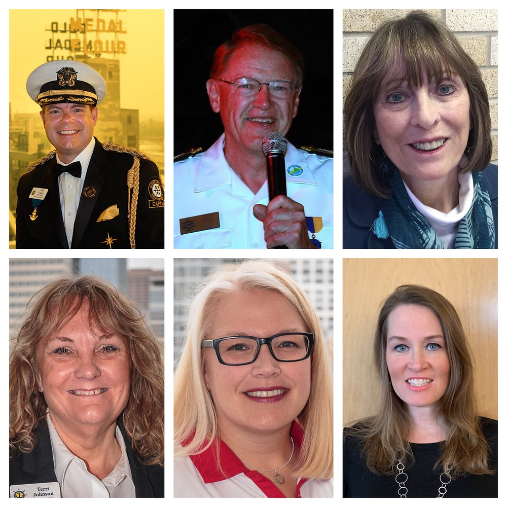 From top: Jim Ganger, Dave Recker, Eileen Hafften, Terri Johnson, Sharolyn Carlson, Jennifer Evers