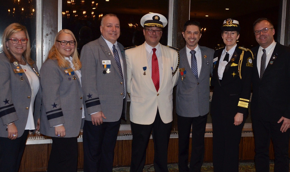 2017 Vice Commodores with President Joe Johnston
