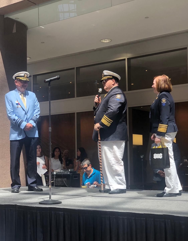 Members of the MASAA accept the Golden Anchor Award
