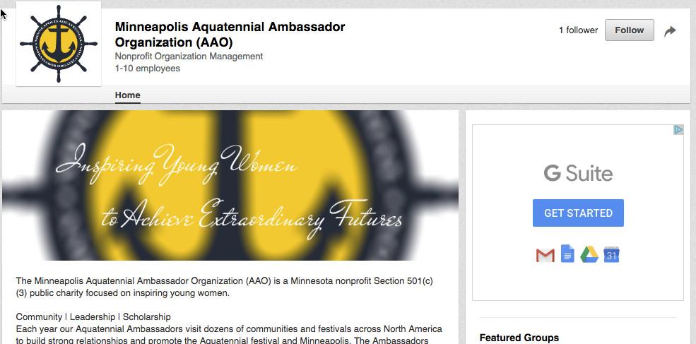 AAO LinkedIn Company Page