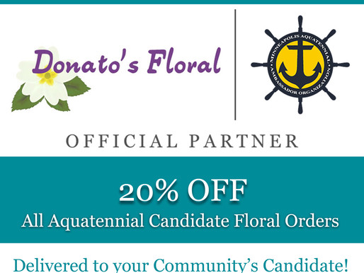 Donato's Floral returns as Official Florist, offers 20% Discount on Aquatennial Orders