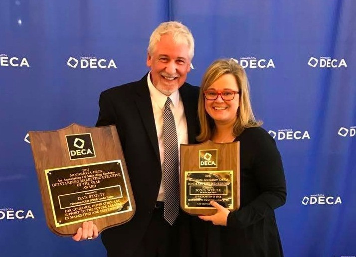 AAO Leaders Dan Stoltz & Sonja Weiler honored by MN DECA