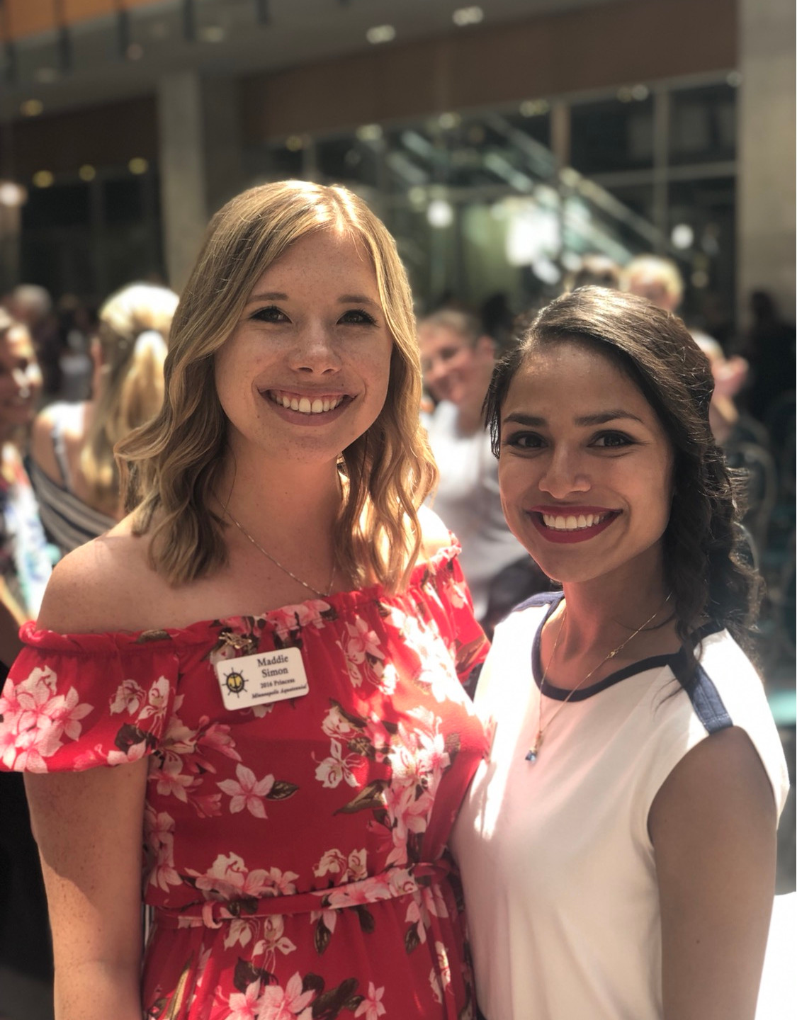 Maddie Simon and Maricia Pacheco, recipients of the Steven K. Anderson Volunteer of the Year Award