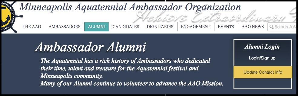 Ambassador Alumni Webpage