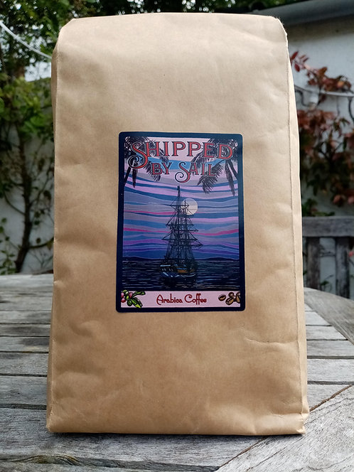 Colombian Arabica Coffee, Brixham Dark Roast, 1kg beans