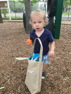 Searching the playscape for eggs