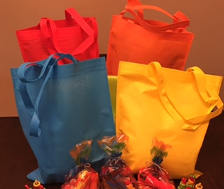 Brightly Colored Totes