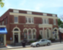 Exterior view of 189 Main Street Falmouth, MA; Keenan + Kenny Architectus located on the secod floor