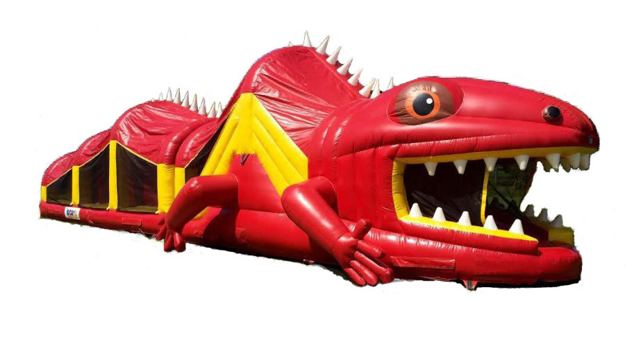 Red Lizard Inflatable Obstacle Course