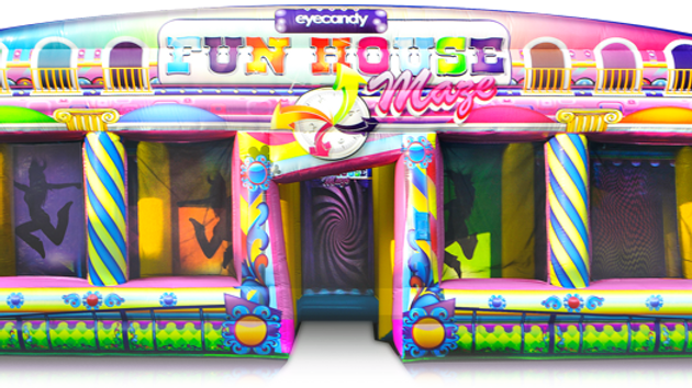 inflatable fun house game