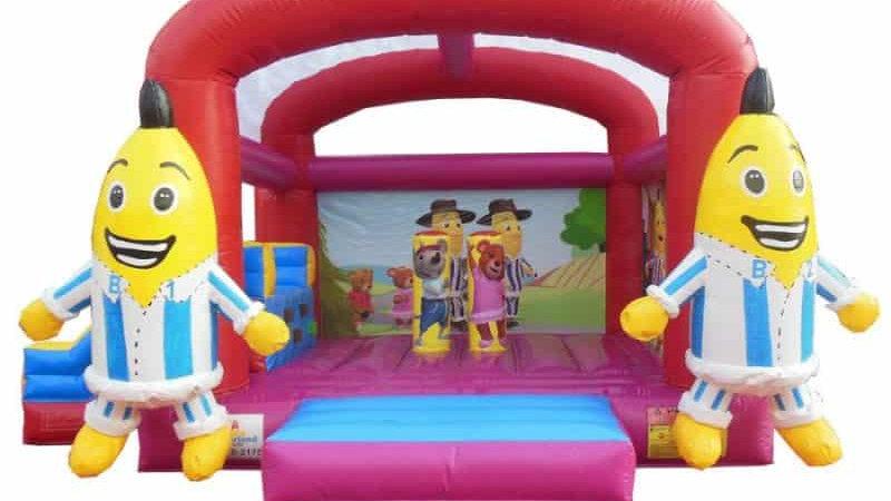 Bananas in PJ bouncy castle combo