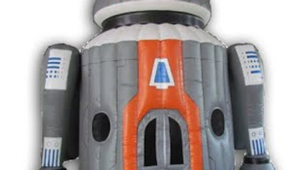 Inflatable robot jumping castle dom