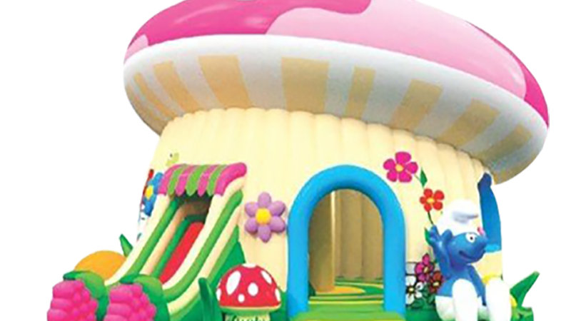 The Smurf Inflatable Mushroom Combo