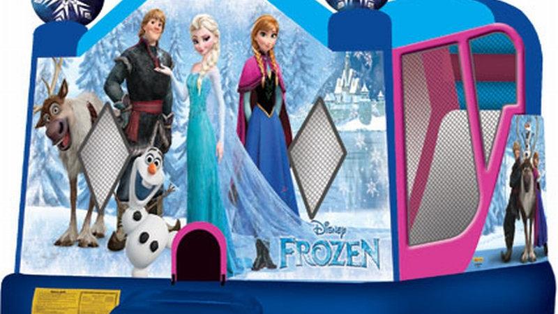Frozen Combo C4 inflatable frozen jumping castle