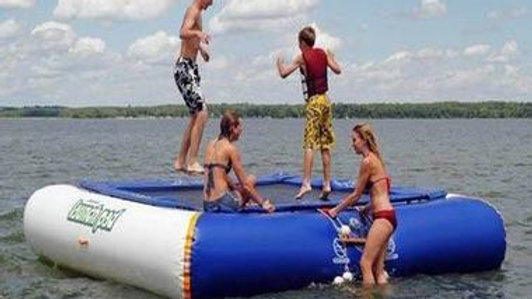 Floating Trampoline Launch Pad