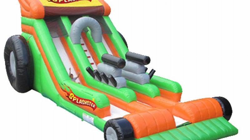 Splashter Car inflatable dry Slide