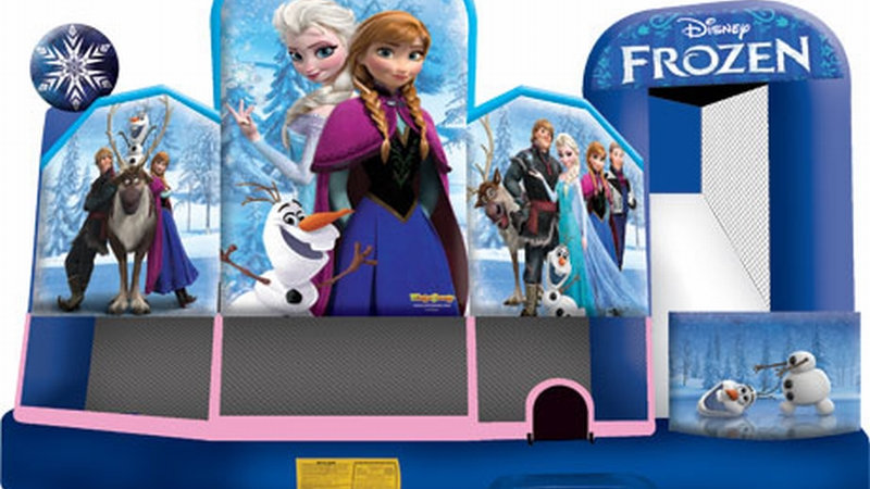Inflatable Frozen 5 in 1 Jumping Castle Combo