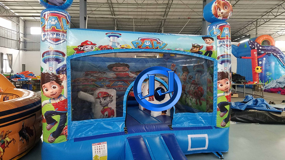 Paw patrol inflatable jumping castle combo
