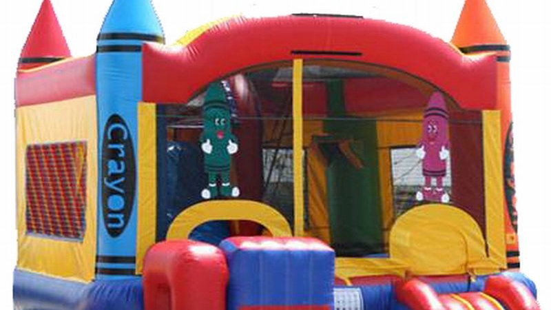 Crayon jumping castle combo