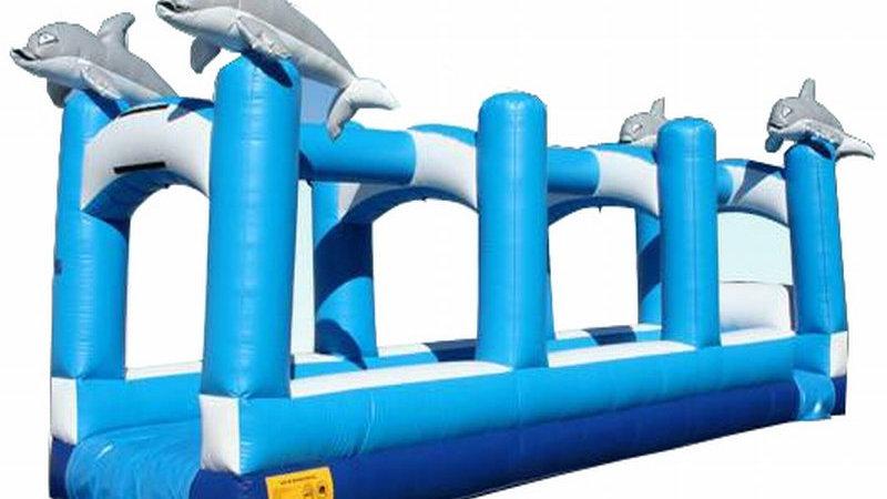 Ocean wave dophin slip and slide Inflatable water slide