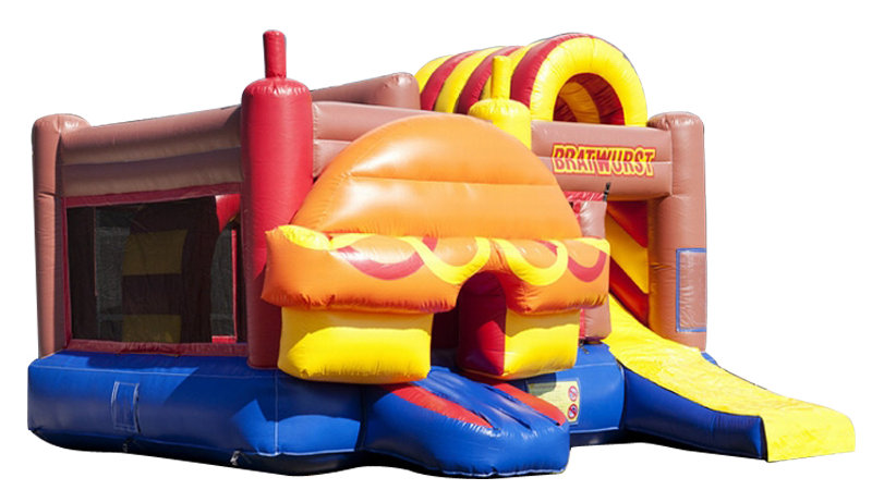 Inflatable Hot Dog Themed Bounce