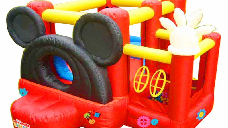 Mickey Mouse jumping castle Combo With Mickey Mouse Ball Pit