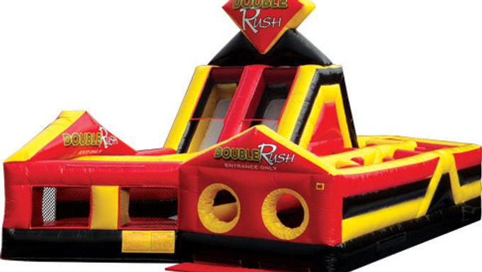 Double Rush RIGHT Inflatable Obstacle Course