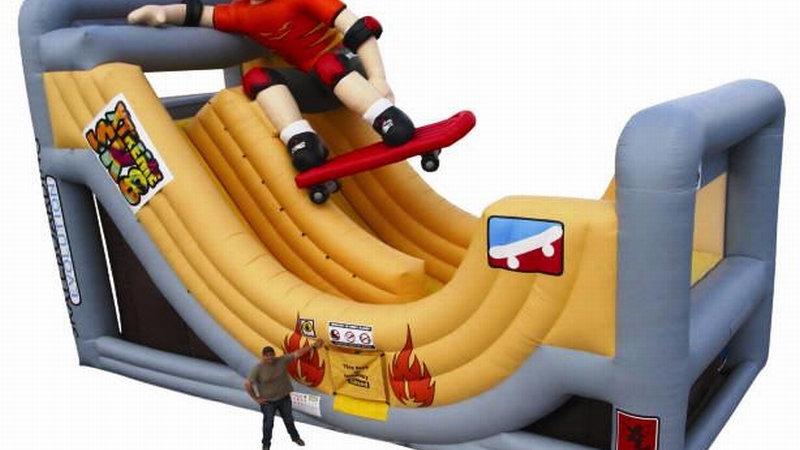 Extreme Skate Slide Obstacle Course For Kids