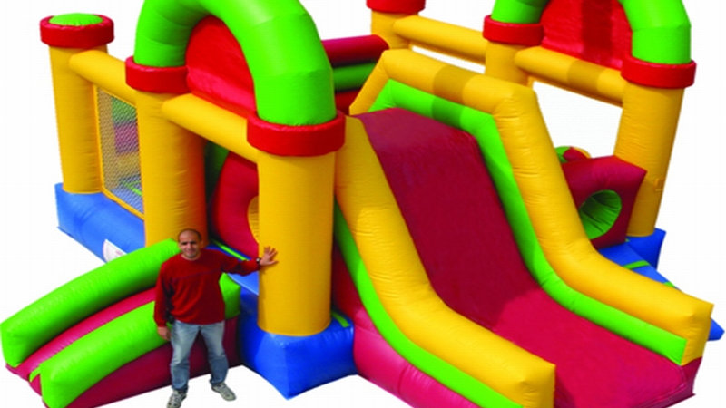 Tunnel Slide Combo Inflatable Obstacle Course