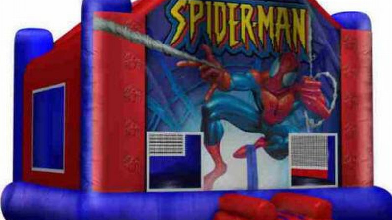 Spider Man Bouncing castle