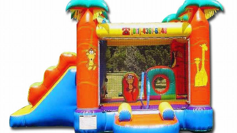 Safari Jumper Combo bouncy castle