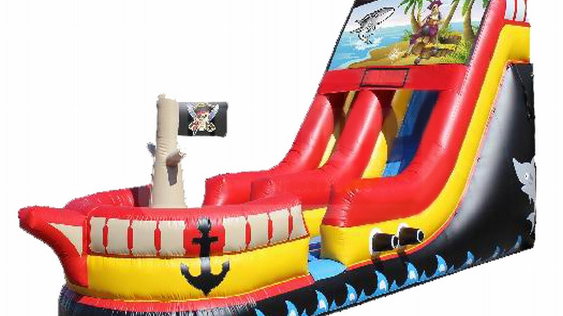 Inflatable Pirate Ship Dry/Wet Slide